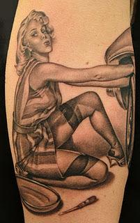 Pin Up Girl Tattoos Designs