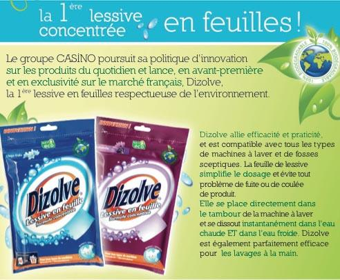 Innovation de rupture rayon lessive