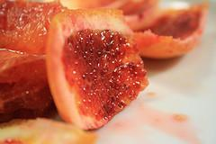 Pelure d'une orange sanguine