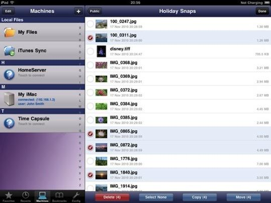 Filebrowser sur Ipad...