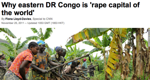 """Eastern Congo has been called the ""rape capital of..."
