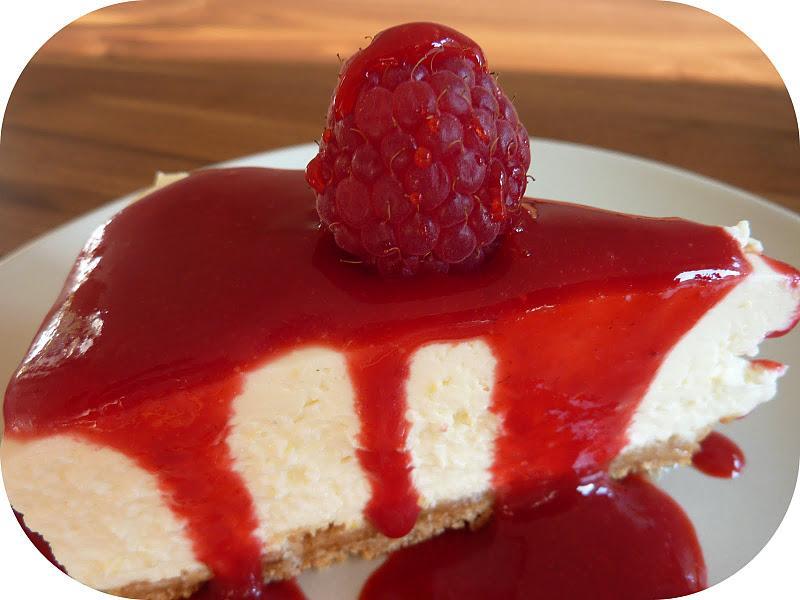 Cheesecake citron sans cuisson et son coulis de framboises ...