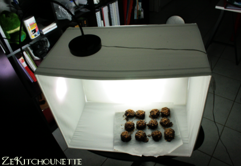 studio photo pliable pour photo culinaire