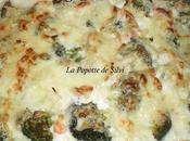 Gratin Panga ,Crevettes brocolis