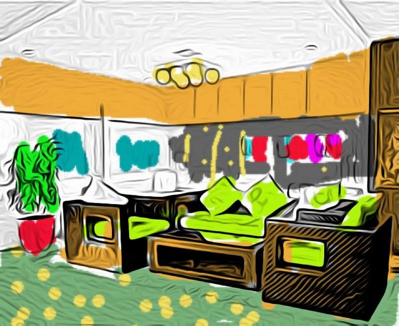 croquis esquisses dessins deco d 39 interieurs copyright luka deco design paperblog. Black Bedroom Furniture Sets. Home Design Ideas