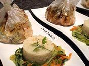 Papillote saumon fondue poireaux