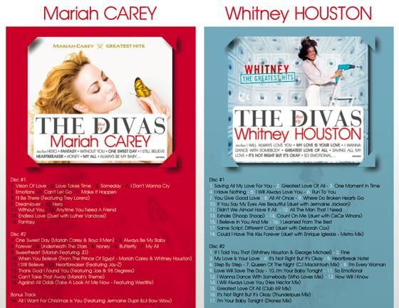 Une playlist qui rend hommage aux Divas : Mariah Carey & Whitney Houston