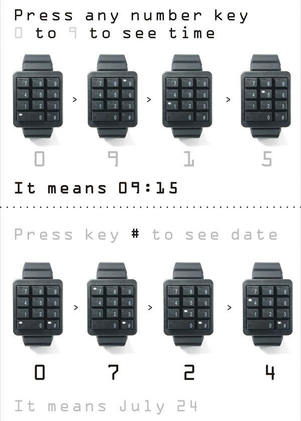 la montre clavier pour geek ultime