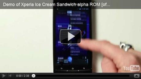 ICE Cream Sandwich, une ROM en version Alpha par Sony Ericsson