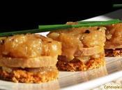 Minis tatins foie gras pommes