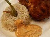 Poulet tandoori, basmati sauce yogourt aromatisé