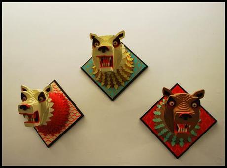LG Galerie A J FOSIK tete ours A.J.Fosik : trophées de chasses fantastiques à la Galerie L.J.