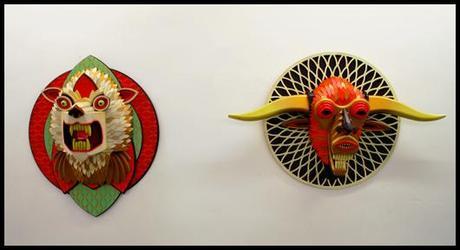 LG Galerie A J FOSIK tetes1 A.J.Fosik : trophées de chasses fantastiques à la Galerie L.J.