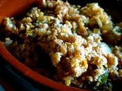 Crumble léger courgettes saveurs asiatiques