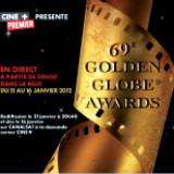 Les 69° Golden Globe awards retransmis en direct la nuit du 15 janvier 2012
