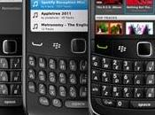 Spotify arrive BlackBerry