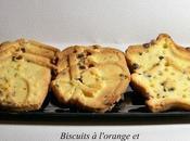 Biscuits l'orange pépites chcocolat pour père Noêl