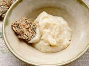 Velouté céleri biscuits lentilles