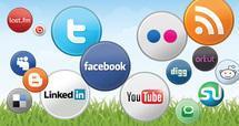 Médias sociaux croissance