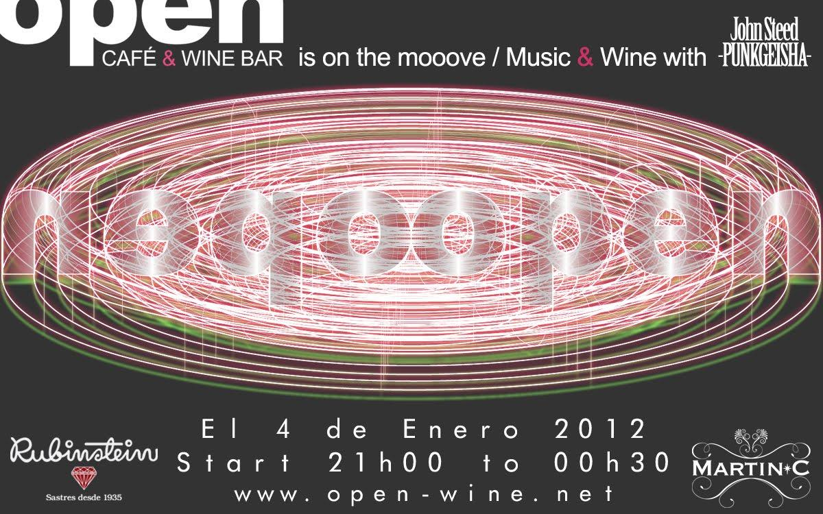 MUSIC & WINE > PUNKGEISHA + OPEN CAFÉ & WINE BAR
