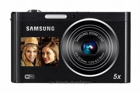 Appareil photo numérique Samsung DV300F avec double écran et Wi-Fi