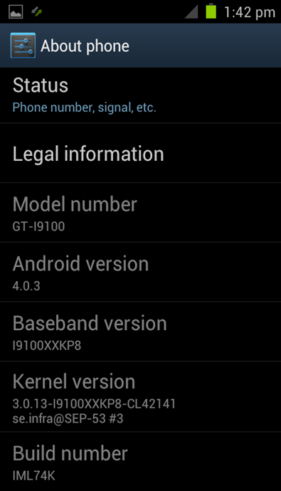 rom android 4.0.3 galaxy sii