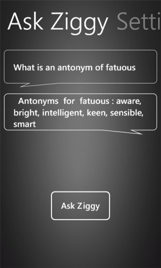 ask ziggy 324x540 Ask Ziggy, le Siri de Windows Phone ?