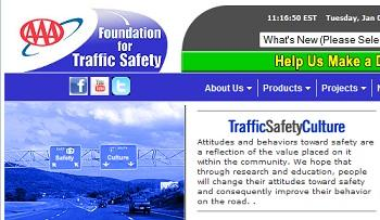 PAGE D'accueil du la foundation for traffic safety