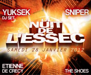 La 36ème édition de La Nuit de L'Essec utilise le système de billetterie Weezevent