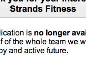 Strands Fitness c'est terminé