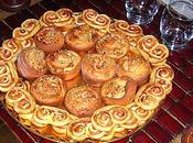 Palmiers feuilletés briochettes noix saumon