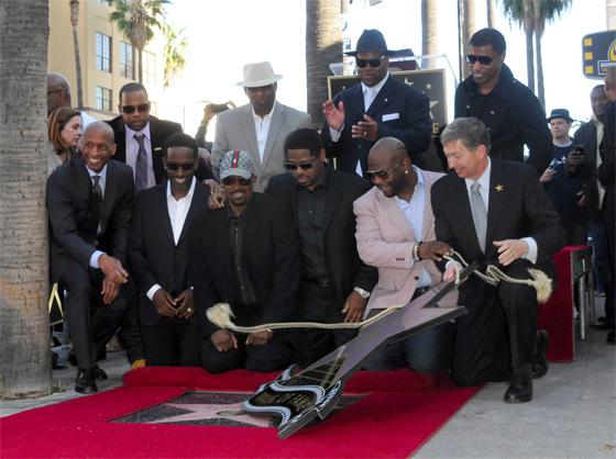 Le groupe Boyz II Men inaugure son étoile sur le Hollywood Walk Of Fame