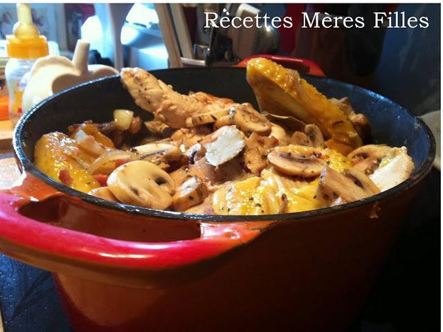 La recette cocotte coq au riesling paperblog - Cuisson courgette cocotte minute ...