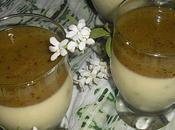 Crème chocolat blanc, spéculoos gelée Kiwi