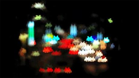 Gif Tokyo Note [Photo] Des spaces invaders en ville de nuit