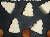 Mousse chocolat blanc sapins Noël