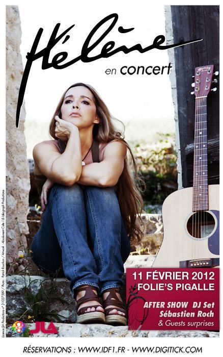 Hélène en concert le 11 février 2012 aux Folie's Pigalle avec IDF1 !!