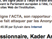 """""""Kader Arif, rapporteur l'ACTA Parlement..."""