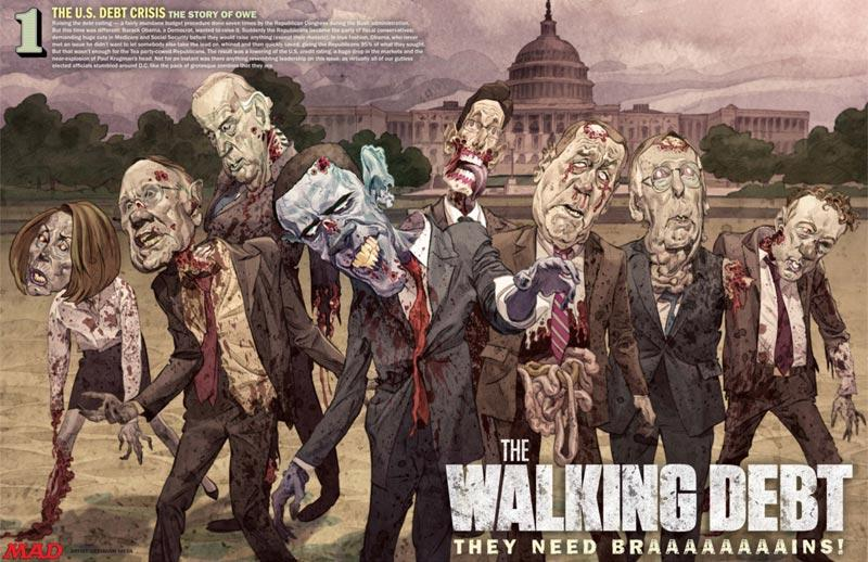 The Walking Dead : Obama Mad style