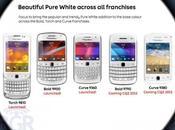 BlackBerry gamme toute blanc vêtue