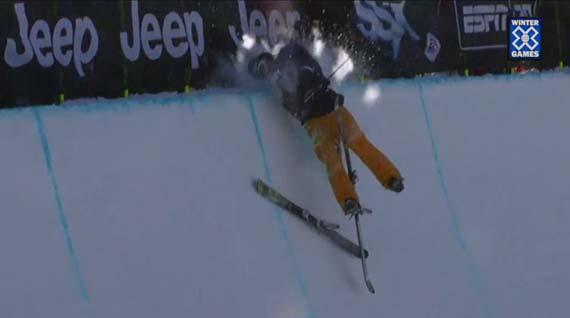 Le crash de la semaine #4 par Justin Dorey aux Winter X Games 2012 !