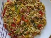 Blésotto lardons légumes saveur thaï