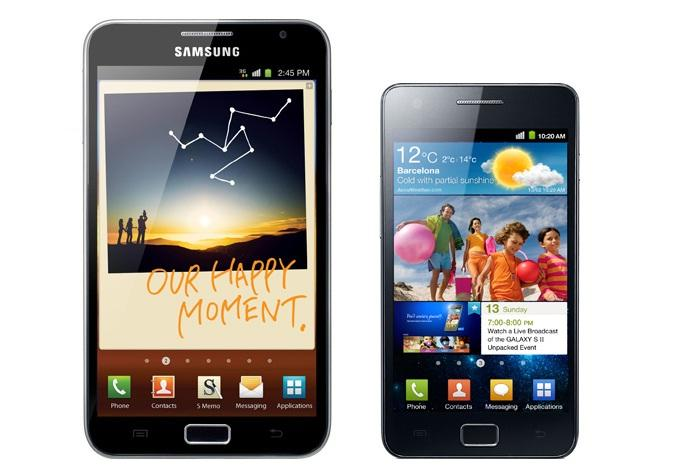Android 4.0 arrive sur Galaxy S II Galaxy Note