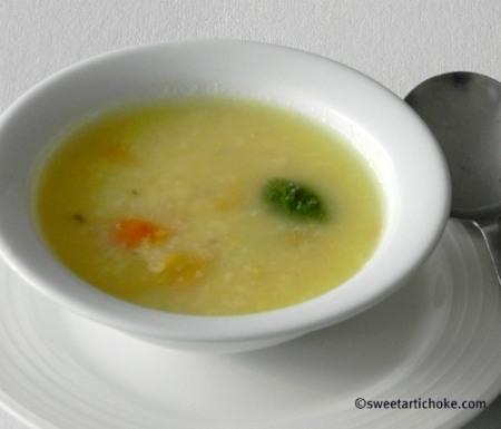 Announcing My Legume Love Affair – 44 / Light Mung Dal Soup – Soupe légère aux lentilles moong