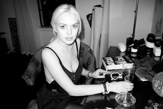 Lindsay Lohan photos noir et blanc Terry Richardson