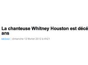 suis d'avis RTBF assassiné Whitney Houston...