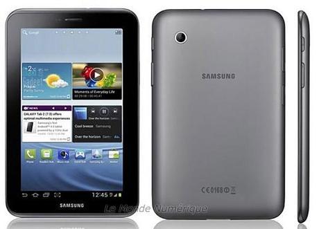 Samsung lance la nouvelle Galaxy Tab 2 7.0 GT-P3100