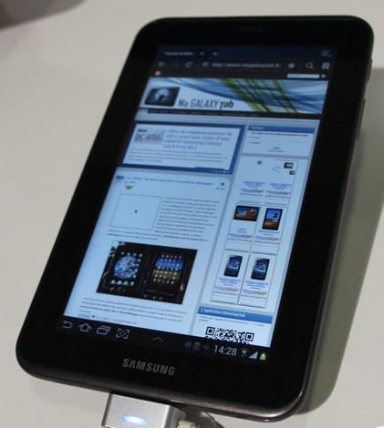 Samsung lance la nouvelle Galaxy Tab 2 GT-P3100