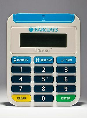 English: Image of a Barclays PINsentry Dynamic...