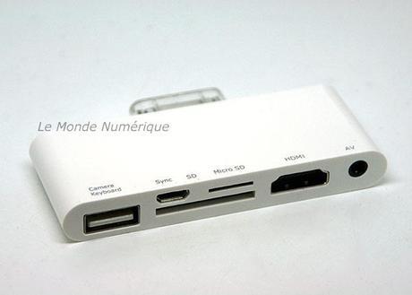 Un kit de connexion 6 en 1 Audio Vidéo HDMI pour iPad et iPad 2